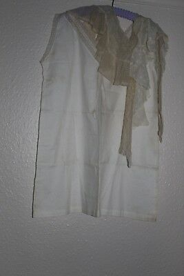 antique/vintage BEAUTIFUL LACE DRESS COLLARS SCARF LINGERIE ROLL HANDMADE LACE