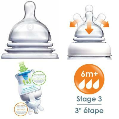 Munchkin Latch Stage 3 Nipple, 6 Plus Months, 2 Count