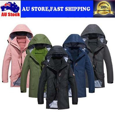 Couple 3 In 1 Jacket Sports Outdoor Two-piece Jacket Winter Cold Warm Jacket AU!