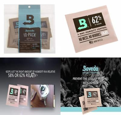 Boveda Humidipak 8 Gram (Medium) 10 Pack 2-way Humidity Control 62% RH