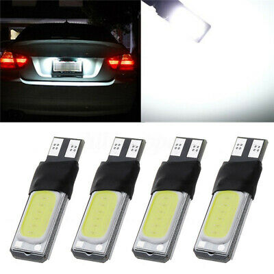 2/18x T10 501 W5W Canbus Error Free COB LED Car Number Wedge Side Light White