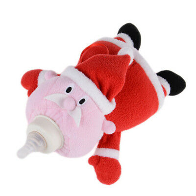 Baby Plush Santa Claus Milk Bottle Pouch Feeding Bottles Bag For Kids Gift CB
