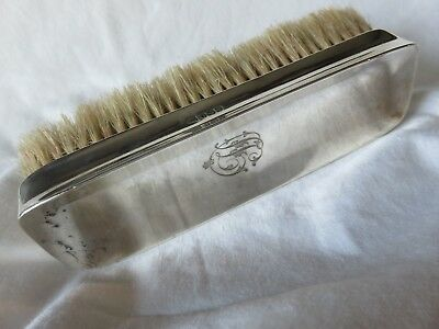 Antique Edwardian Silver Back Clothes/Show Dog Brush Walker & Hall 1903