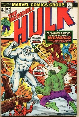 Incredible Hulk #162 - VG- - 1st Appearance Of The Wendigo