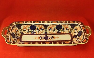 """Vintage Nippon IMARI 13"""" Long Console Bowl or Tray with Gilt Trim"""