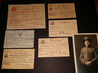 WW1 grouping 2 brothers Ivan and Doley Livingston NY 17-1918 draft cards id's