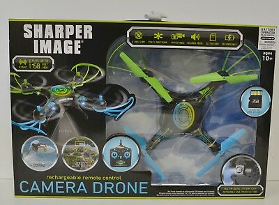 Sharper Image Rechargeable Remote Control Camera Drone New Free