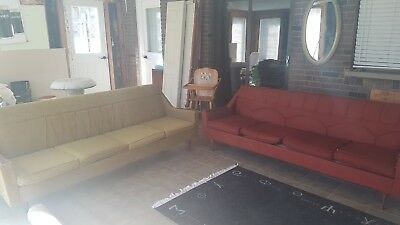 Antique Furniture Sofas and High Chair 1950's early 60's.