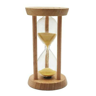 10 Minute Wooden Frame Sand Egg Timer Hourglass Kitchen Cooking Timer Yellow