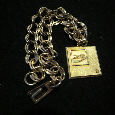 Vintage Gold Filled Coca Cola Employee Award Bracelet One Star 1/10 10K