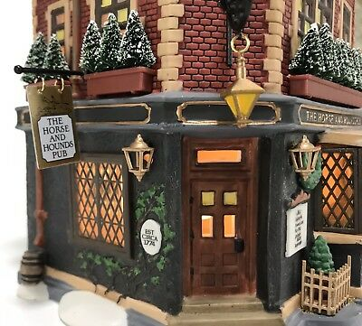Dept 56 The Horse And Hounds Pub Christmas Dickens' Village 58340