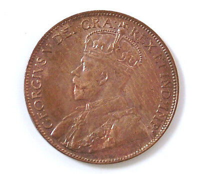 1920 Gem BU Canadian Large Cent Canada One Cent King George V Coin