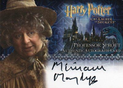 Harry Potter Chamber of Secrets Miriam Margolyes (Pr. Sprout) Autograph Card