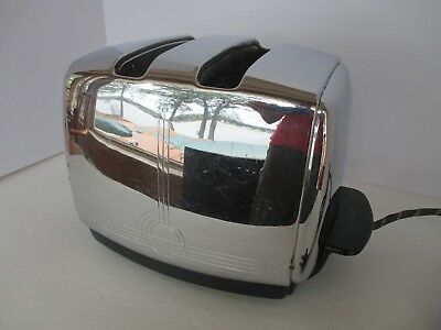 Vintage SUNBEAM T-20 A Chrome Toaster Art Deco Excellent Works
