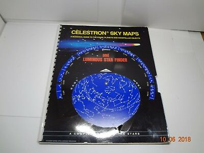 Celestron Sky Maps Chart - Illustrated Star Map Atlas (1974)