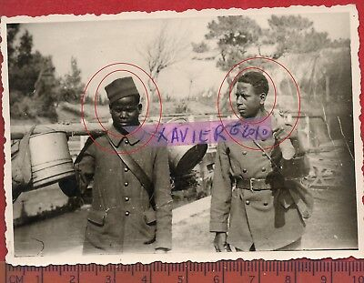 photo orig all CORVEE PRISONNIERS COLONIAUX à localiser  FRANCE 1940 ww2 O37