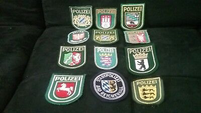Assorted German Police Polizei Patches lot of 12 RARE AND MOSTLY NEW! Classic
