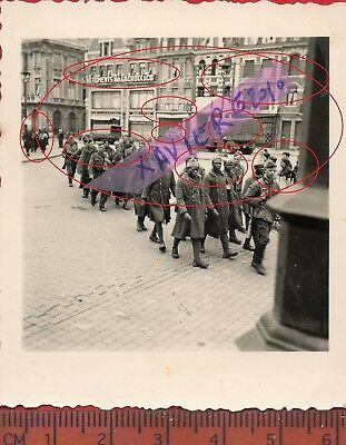 TOP RAR photo orig all PRISONNIERS METRO COLONIAUX CAMBRAI NORD FRANCE 1940 ww2