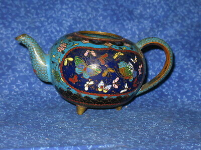 Antique Chinese Fancy Cloisonne Miniature Tea Pot Teapot