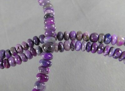 dkd#40/103cts NATURAL Purple/Violet Sugilite Beads/ Necklace