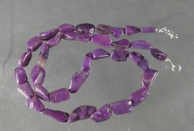 dkd#39/141.9cts Tumbled Purple/Violet Sugilite Beads/ Necklace