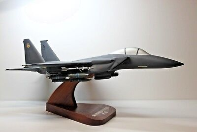 """Beautiful Hand Craved Mcdonell-Douglas F-15 Eagle 2Nd Meanest 10"""" Ws X 16"""" L"""