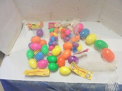 vintage plastic easter eggs 51 fill n thrill peoria plastic company 4 sizes