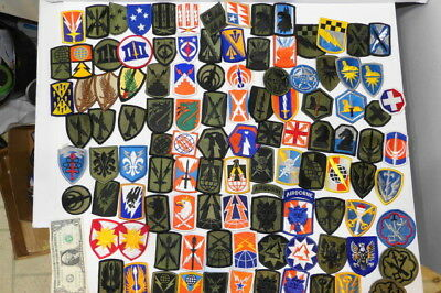 US Army MIL INTEL, AIR CMD, SIGNAL SPRT BRIGADES Color/Subdued PATCH LOT 100%