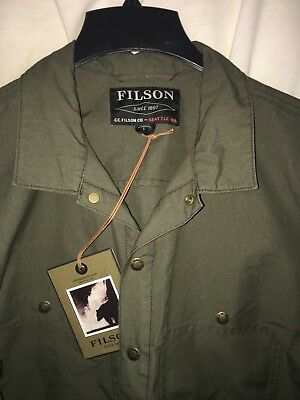 New With Tags Filson Limited Edition Cotton Canvas Jac Shirt L