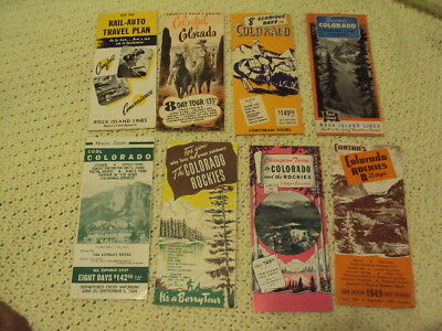 Lot 8 Chicago Rock Island Colorado Rocky Mountain Rocket Auto-Rail 1949 Cowboys
