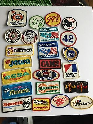 LOT of  VINTAGE  various MOTORCYCLE and RACING  related  PATCHES ( 24 )