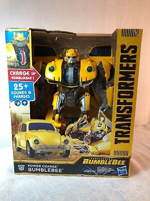 Transformers Hasbro Bumblebee Movie: Power Charge Bumblebee NEW