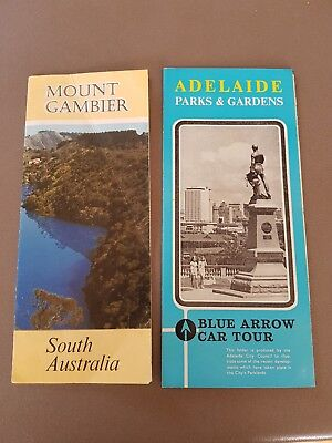 1960s Vintage South Australia tourist guides. Adelaide Mount Gambier Road Map