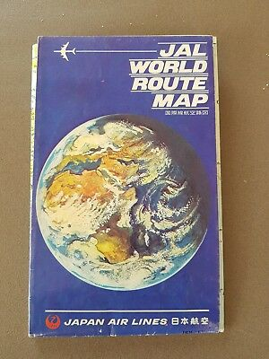 JAL Japan Air Lines World Route Map
