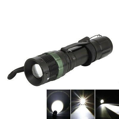 10000 Lumens Zoomable 3-Modes LED 18650 Flashlight Torch Lamp Light