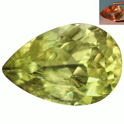 3.59Ct Phenomenal Pear Cut 12 x 8 mm AAA Color Change Turkish Diaspore