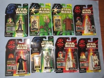 Star Wars Action Figure Lot 8 Carded Action Figures GO FISH