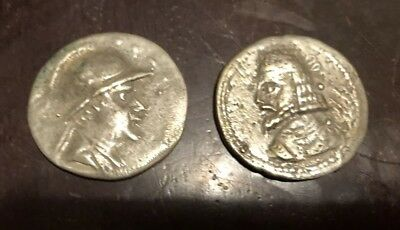 Two Ancient Silver Greek Coins