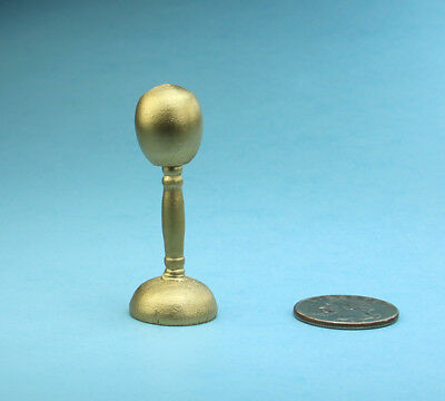 NICE Dollhouse Miniature 1:12 Scale Gold Painted Wooden Hat/Wig Stand #JLM230