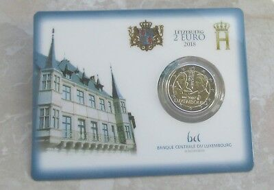 """Luxemburg 2018 2 Euro GM """" 175. Todestag Guillaume I."""" in Coincard"""