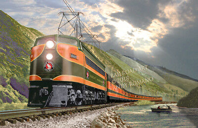 "GREAT NORTHERN RY ""EMPIRE BUILDER,"" ART BY ANDY ROMANO LTD 1st EDITION R18-371"