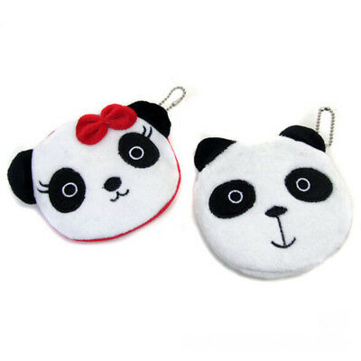 Cartoon Plush Panda Coin Purse Kids Small Pouch Fluffy Wallet For Kids Child CB