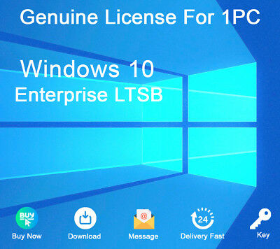 Genuine Windows 10 Enterprise LTSB 2016 32&64 bit Activation Key