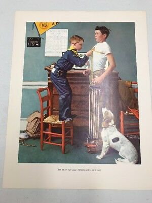 Vtg Norman Rockwell Boy Scout Print Through The Eyes Of To Keep Myself Strong