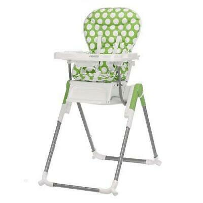 Obaby Nanofold Hi Lo Highchair (Dotty Lime) - Suitable From 6 Months