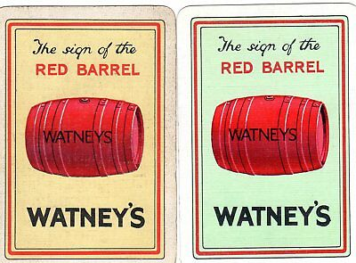 """Pair of WIDE RARE VINTAGE """"Watneys British Brewery"""" SINGLE Playing Cards"""
