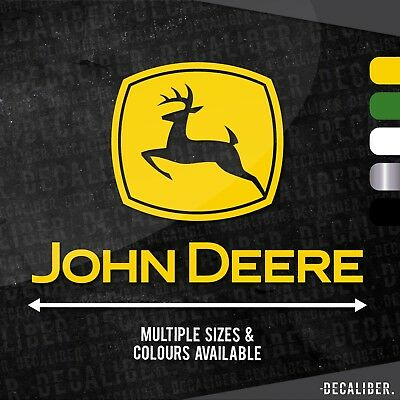 Tall John Deere with Deere Badge / Emblem / Sticker / Decal for Tractor / Car