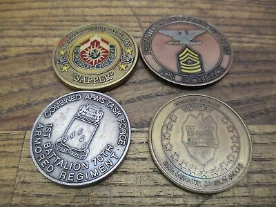 Lot of 4 Military Achievement Award Medallions