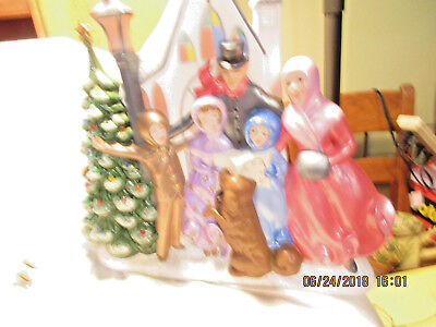 Lighted Christmas Carolers-Atlantic Mold-1960s-Comes With Light