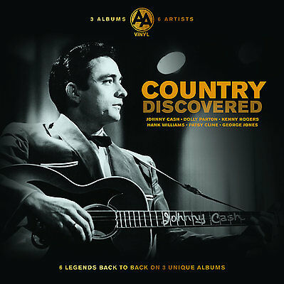 Country Music Collection Vinyl New Triple LP Album 6 Artists 50s 60s Johnny Cash
